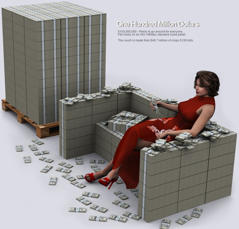 US & World Debt Visualized in 100 Dollar Bills...