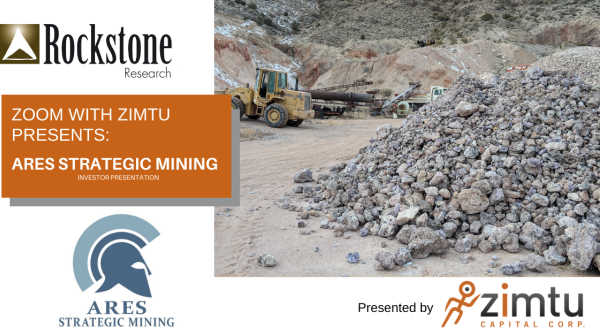 Zoom Online Meeting mit Ares Strategic Mining...