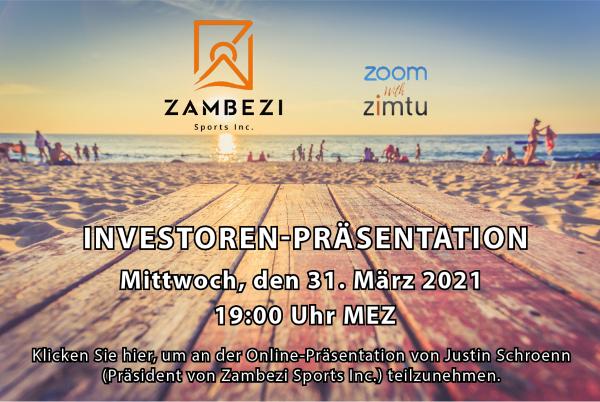 Zambezi Sports Investoren-Präsentation...