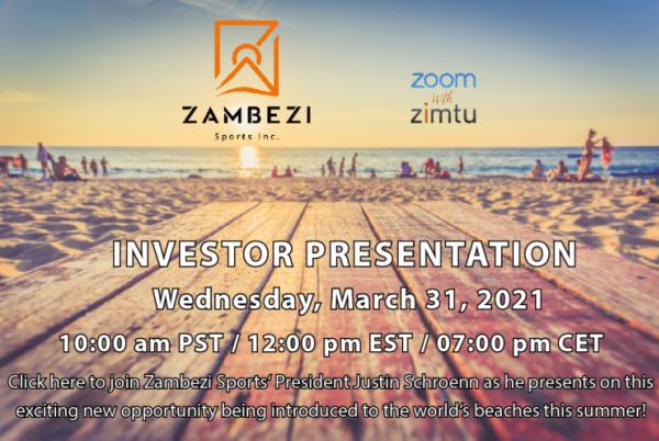 Zambezi Sports investor presentation...