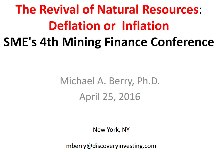 The Revival of Natural Resources: Inflation or D...