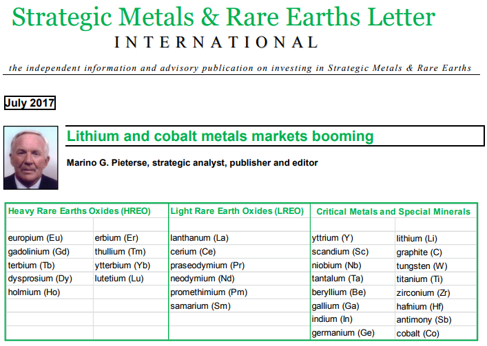 Lithium and cobalt metals markets booming...