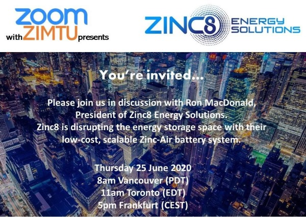 Zoom-Online-Meeting mit Zinc8 Energy Solutions I...