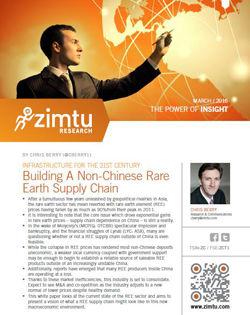 Chris Berry ponders a non-Chinese rare earths su...
