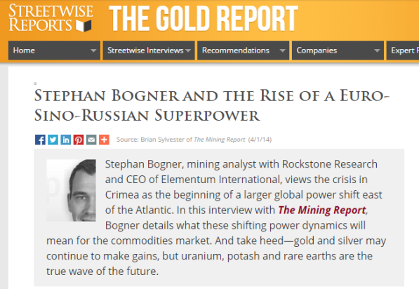 The Gold Report Interview #3 mit Stephan Bogner...